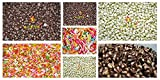 #7: Leeve All In One Chocolate Assortment - Dark, White, Twins and Rainbow Vermicelli (Each Packet of 100gms) , 400gms