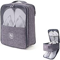 Housses chaussures de voyage,sac à chaussures d'extérieur portable, étanche à la poussière, imperméable et respirant…