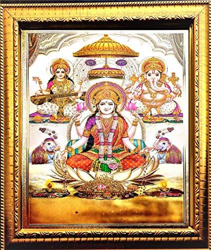 ADA Handicraft Hindu Lord Goddess God Religious Framed Painting for Wall and Pooja/Hindu Bhagwan Devi Devta Photo Frames/God Poster for Pooja (24*33) cm