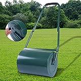 COSTWAY Green Lawn Roller, Galvanized Steel, Heavy Duty Garden Grass Roller, Fill