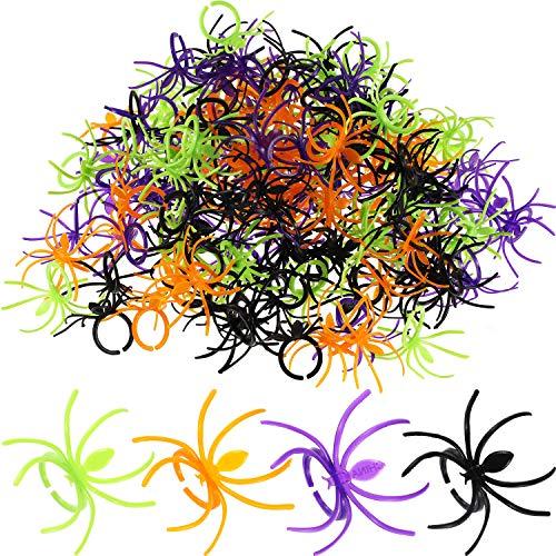 Kunststoff Spinnenringe Spinnen Party Zubehör Halloween Partyartikel, 4 Farben ()