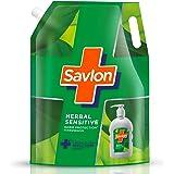 Savlon Herbal Sensitivel pH balanced Liquid Handwash Refill Pouch, 1500ml, Fresh, 1.5 l (Pack of 1)