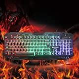 Hot Sale Upgraded K10 Gaming Professional Keyboard Switches Metal Wired USB Game Keyboard 112 Key Plug And Play For Pro PC Gamer,Black