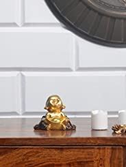 @home by Nilkamal Mini Baby Monk Showpiece, Gold