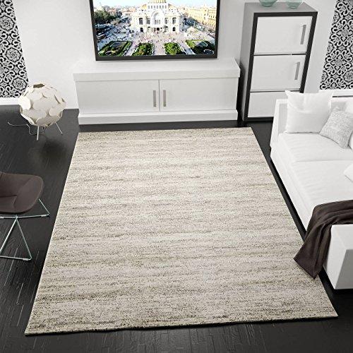 Kurzflor Teppich Modern Wohnzimmer Meliert, OEKO TEX Zertifiziert, Farbechtheit, Pflegeleicht in BEIGE, Maße:160 x 230 cm