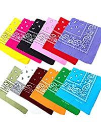 JT-Amigo 12pcs Pañuelos Bandanas de Modelo de Paisley para Cuello / Cabeza