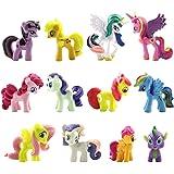SZWL 12 piezas/set de adorno para tarta, juego de minifiguras de unicornio, suministros para fiesta de cumpleaños, figuritas