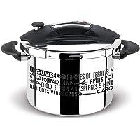 Sitram 711937 Autocuiseur Sitraspeedo 8L en inox-noir avec sérigraphie-tous feux y compris l'induction-fabrication…