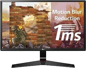 LG 24 inch (60.96 cm) Gaming LED Monitor - Full HD, IPS Panel with VGA, HDMI, Display, Heaphone Ports - 24MP59G (Black)