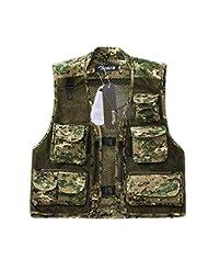 Multi-poches Gilet Veste de Maille pour camping ,pêche ,chasse,photographier homme