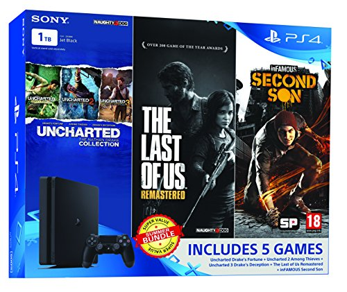Sony PS4 1 TB Slim Console (Free Games: The Last of Us, Uncharted Collection and Infamous Second Son)