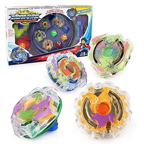 Kreisel Kampfkreisel 4d Beyblade System Spielzeug Satz mit Beyblade Burst Launcher Griff Grip Kindertag, Ostern, Weihnachten, Geburtstag Jahr