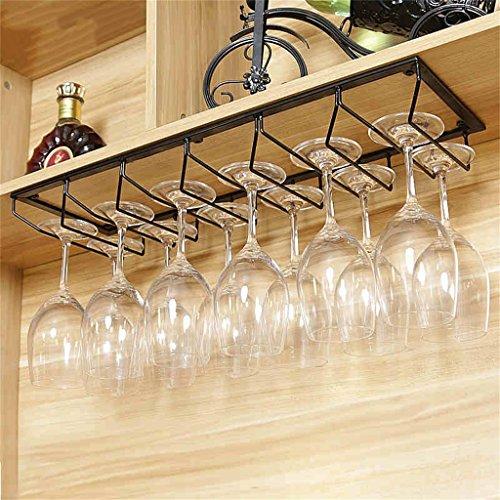 U-küche Regal (LHL-Weinregal Schwarzes hängendes angebrachtes Metallwein-Gestell, europäisches Eisen-Weinglas-hängendes Regal u. Becher-Regal für Küche/Bar/Restaurant (größe : 60 * 20cm))