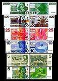 *** 5,5,10,25,100,1000 niederländische Gulden - Ausgabe 1966-1973 - alte Währung - Reproduktion ***