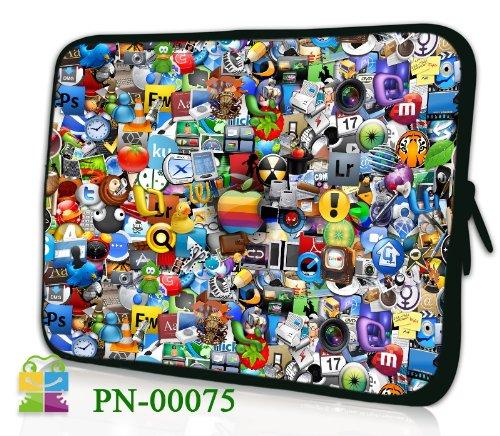 """6 Zoll eBook-Reader (z.B. Amazon Kindle Paperwhite / Voyage / Oasis, Tolino Shine 2HD / Vision 3 HD, Kobo Glo HD / Aura, Icarus Ilumina HD, PocketBook Basic 2, Sony PRS-T3) Schutzhülle - sehr hochwertige & edel verarbeitete eReader Tasche aus wasserfesten Neopren mit eingenähter Doppelnaht, premium Reißverschluss und aufwendigen Designeraufdruck! Die Hülle eignet sich für eBook diverser Hersteller bis 165x120mm ( zirka 5,8"""" bis 6,3"""" ) 366"""
