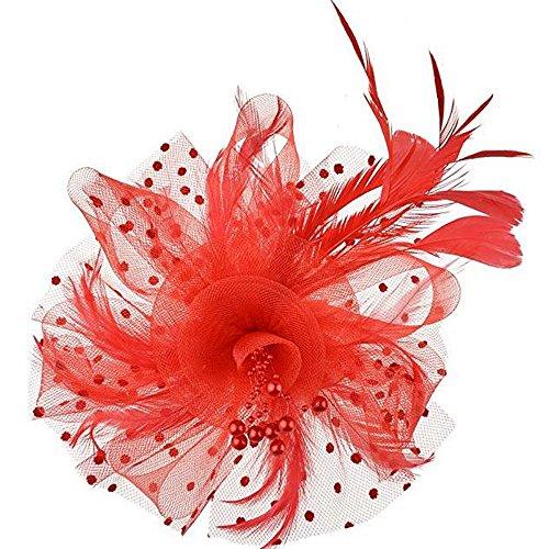 1920s Stirnband [Day.LIN] Damen Gatsby Kostüm Accessoires 20er Jahre Flapper Feder Haarband Haarreif Damen Vintage (Aktion Frau Kostüm)