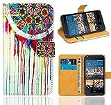 HTC Desire 626 626G Handy Tasche, FoneExpert® Wallet Case Flip Cover Hüllen Etui Ledertasche Lederhülle Premium Schutzhülle für HTC Desire 626 626G (Pattern 14)