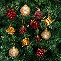 Kikajoy Minik Lüks Yılbaşı Ağacı Süsleme Seti12li