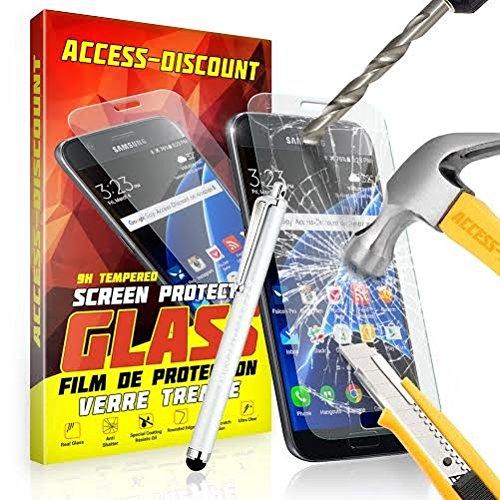 FILM PROTECTION Ecran en VERRE Trempé pour SAMSUNG GALAXY CORE PRIME SM-G360 SM G360 filtre protecteur d'écran INVISIBLE & INRAYABLE vitre INCASSABLE pour Smartphone Core PRIME VE Value Edition G360H G360F dual sim SM-G360F G 360 4G LTE sm-g361f g361 sm g361f 361 (Verre + Stylet BLANC)