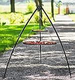 korono schwenk Grill Stabile con telaio telescopico 200cm & 2Griglie 80cm/40cm Acciaio da Giardino con grill per tutte le Feste e la famiglia celebrare