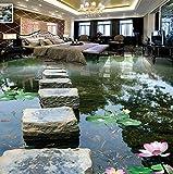 Wmbz Benutzerdefinierte 3D Wandbild Tapete Chinesischen Stil Stein Brücke Pier Foto Wand Papier Aufkleber Schlafzimmer Badezimmer Pvc Wasserdicht 3D Bodenfliese-300X250Cm