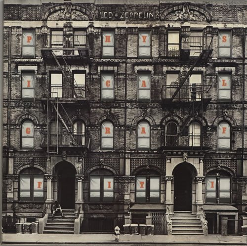Physical Graffiti + poster Led Zeppelin-swan Song-poster