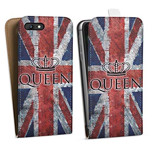 Apple iPhone X Silikon Hülle Case Schutzhülle Queen Großbritannien Flagge Union Jack Downflip Tasche weiß