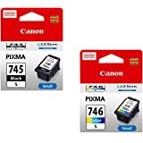 Canon Combo Pg 745 Small and Cl 746 Small Ink Cartridge Set of 2