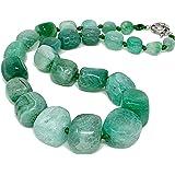 TreasureBay - Splendida collana da donna con pietre di agata