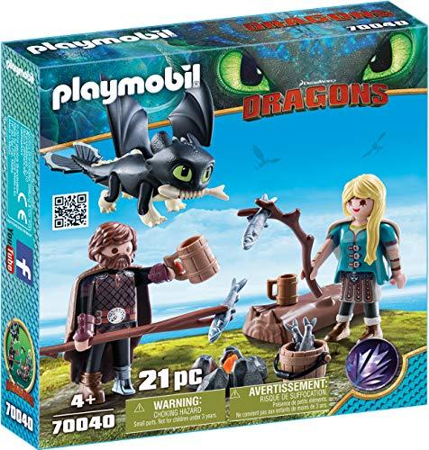 PLAYMOBIL- HIPO y Astrid con Bebé Dragón Juguete, Multicolor (geobra Brandstätter 70040)