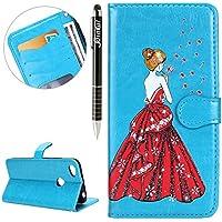 Xiaomi Redmi Note 5A Hülle,Xiaomi Redmi Note 5A Ledertasche Handyhülle Brieftasche im BookStyle,SainCat Retro... preisvergleich bei billige-tabletten.eu