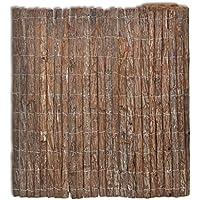 vidaXL Valla Cortezas de Arboles Cercado Separador Protección Jardín Patio 400 x 200 cm