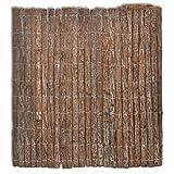 vidaXL Recinzione Corteccia Rete Giardino da Esterno Steccato Recinto 400x100 cm