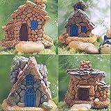 Miniature Fairy Garden Stone House for Miniature Garden Ornaments, Set of 4