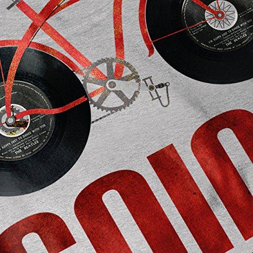 Gehen Retro Fahrrad Jahrgang Aufzeichnung Fahrrad Damen Schwarz S-2XL Muskelshirt | Wellcoda Grau