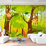 Fototapete Jungelbuch 352 x 250 cm - Vliestapete - Wandtapete - Vlies Phototapete - Wand - Wandbilder XXL - !!! 100% MADE IN GERMANY !!! Runa Tapete 9041011b