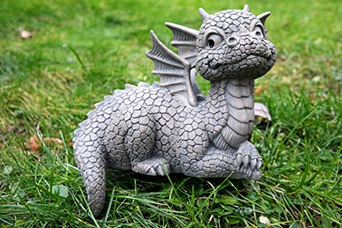 Figure de jardin Dragon assis sur le bord