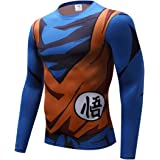 CHENMA Men Dragon Ball 3D Print Slim Fit Stretchy Quick-Dry Training Sport T-Shirt