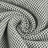 Verhees Bekleidungsstoff Strickstoff Pique Knit Stoff grün schwarz 1,5m Breite