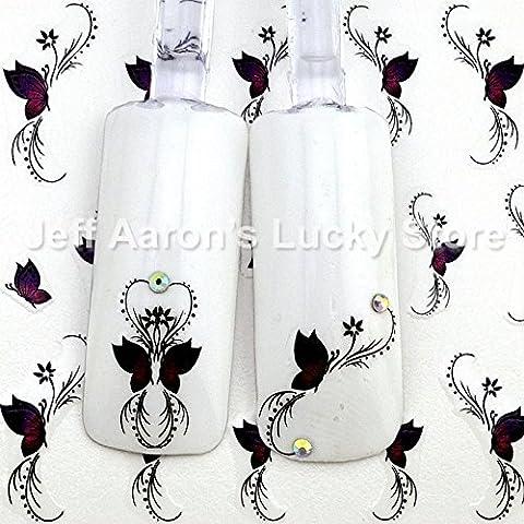 Wulty(TM) 5 Pezzi adesivi arte bellezza farfalla