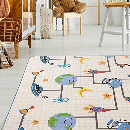 Baby Vivo Premium Spielteppich Galaxy | Krabbeldecke Kinderspielteppich Spielmatte Playmat Spieleteppich Erlebnisdecke Krabbelmatte Spieldecke | 1 cm dicker Kinderteppich XXL 200 x 180 cm