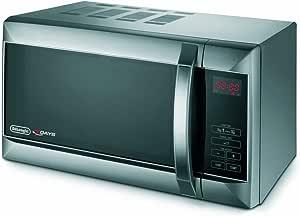 De /'Longhi 800 W Standard Micro-ondes P80T5A-Noir et Argent Simple à utiliser de nouvelles /_ UK