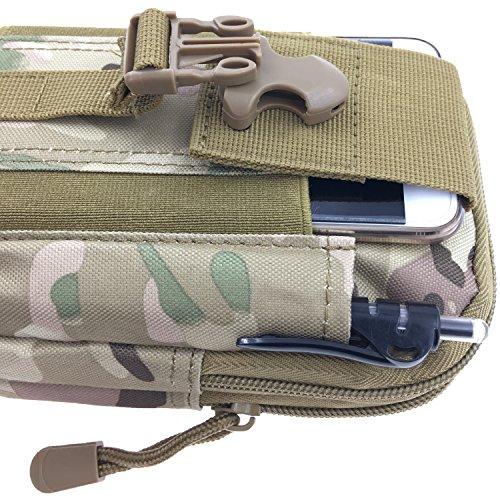 Borsa Marsupio Cintura Tattico MOLLE EDC Pouch Multifunzione - Tyidalin Tattico Sacchetto Militare di Nylon Oxford Impermeabile Bag Per Gadget Hiking Trekking Campeggio Pesca Viaggio Outdoor E