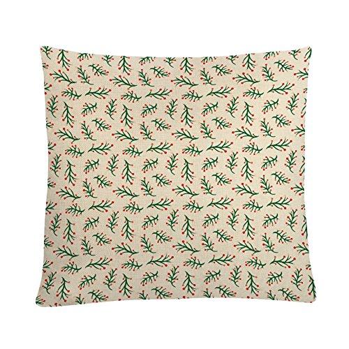 MAYUAN520 Coussins Housse de Coussin de décoration Coton Lin imprimé végétal Simple taie d'oreillers Couverture pour Canapé-lit Chaise sièges Voiture décoration Maison
