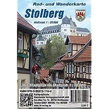 Stolberg: Rad- und Wanderkarte mit Stadtplan