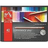 Caran d'Ache Artist Luminance 6901 - Set di matite colorate, 40 pezzi, colori assortiti, multicolore