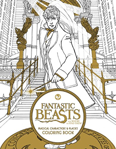 Fantastic Beasts and Where to Find Them: Magical Characters & Places Coloring Book