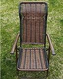GAOJIAN Sedia pieghevole in rattan sedia a sdraio per il tempo libero sedia a sdraio da esterno in metallo rattan fatta in rete 130 kg