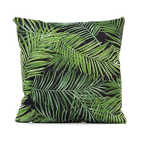 TOOGOO(R) Floral Tropical Plant leaves Pillow Case Cushion Home Decor #26