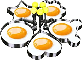CONNECTWIDE 5-Pieces Stainless Steel Fried Egg Mold (CW-446)